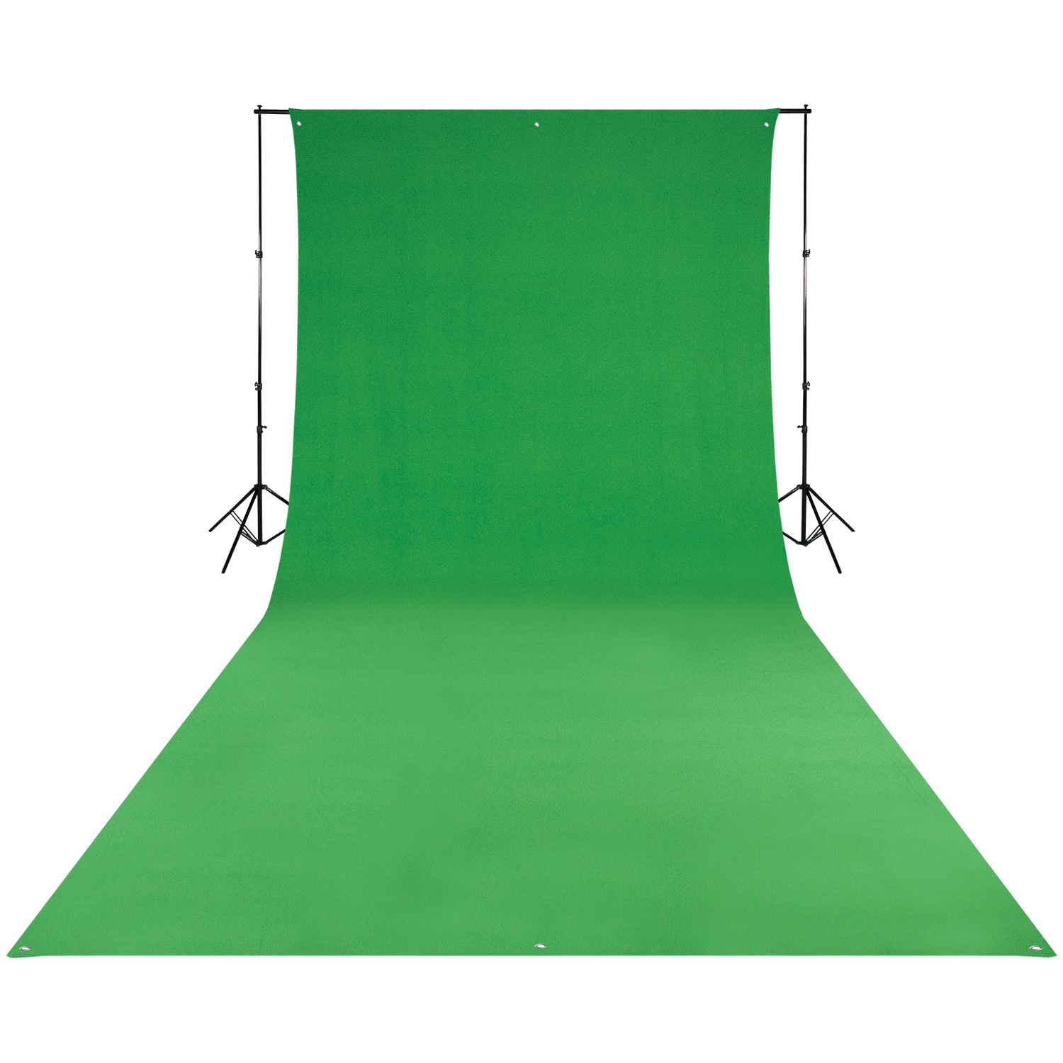 Wrinkle-Resistant 9' x 20' Green Screen Backdrop