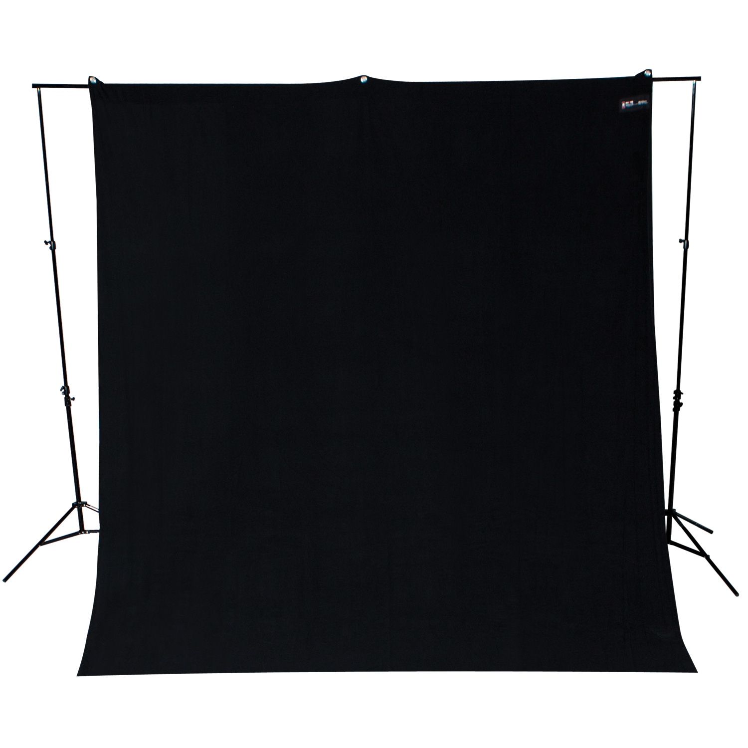 Wrinkle-Resistant 9' x 10' Rich Black Backdrop