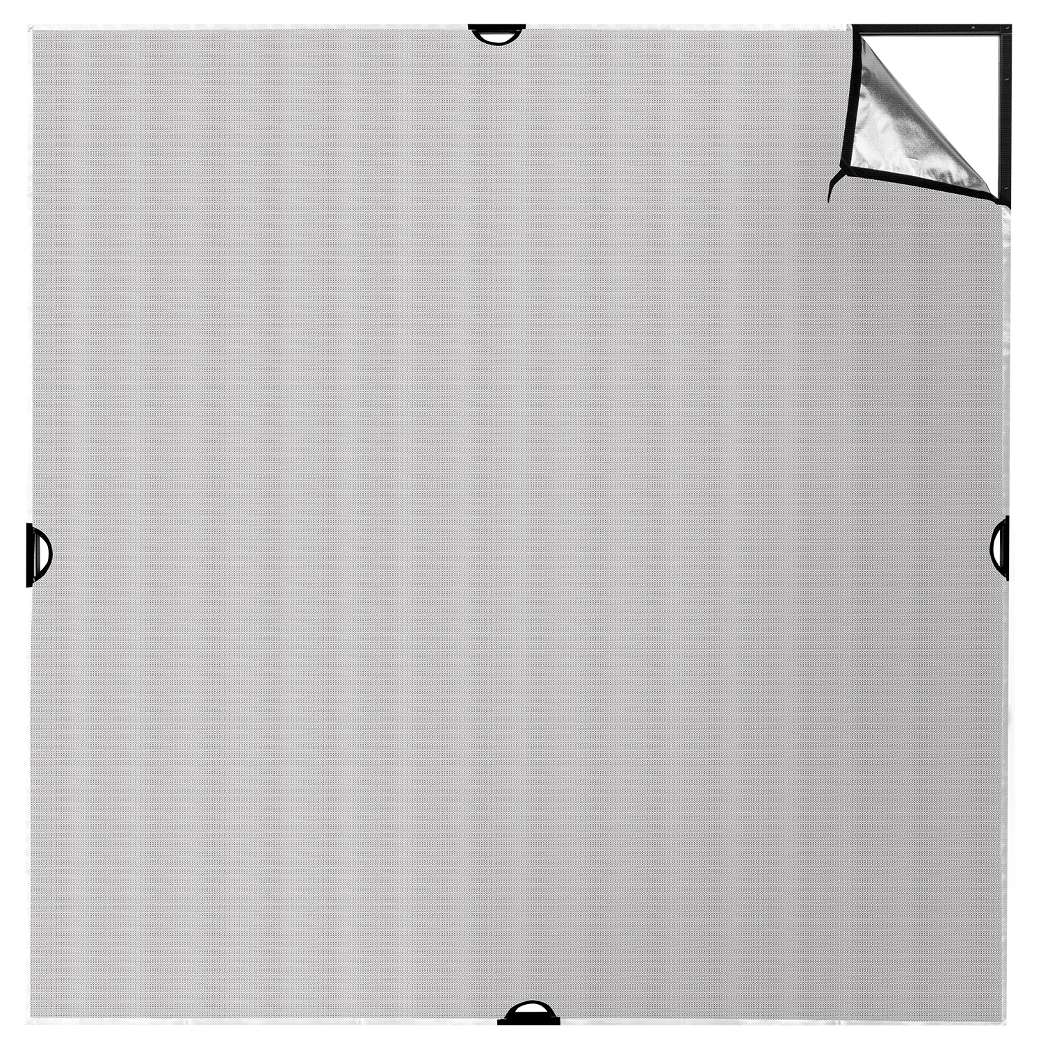Scrim Jim 71-in. x 71-in. Silver/White Fabric