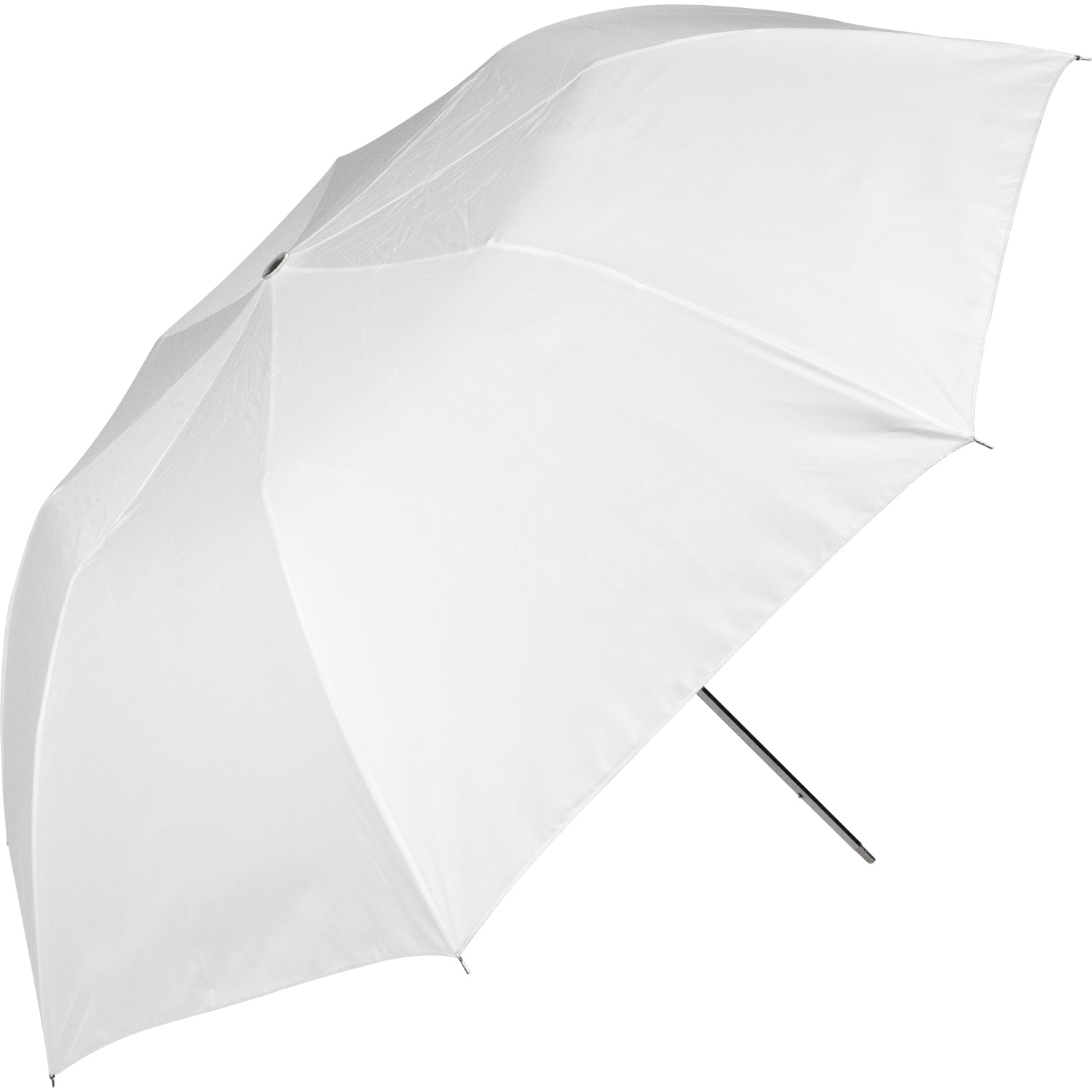 43-in. Optical White Satin Collapsible Umbrella
