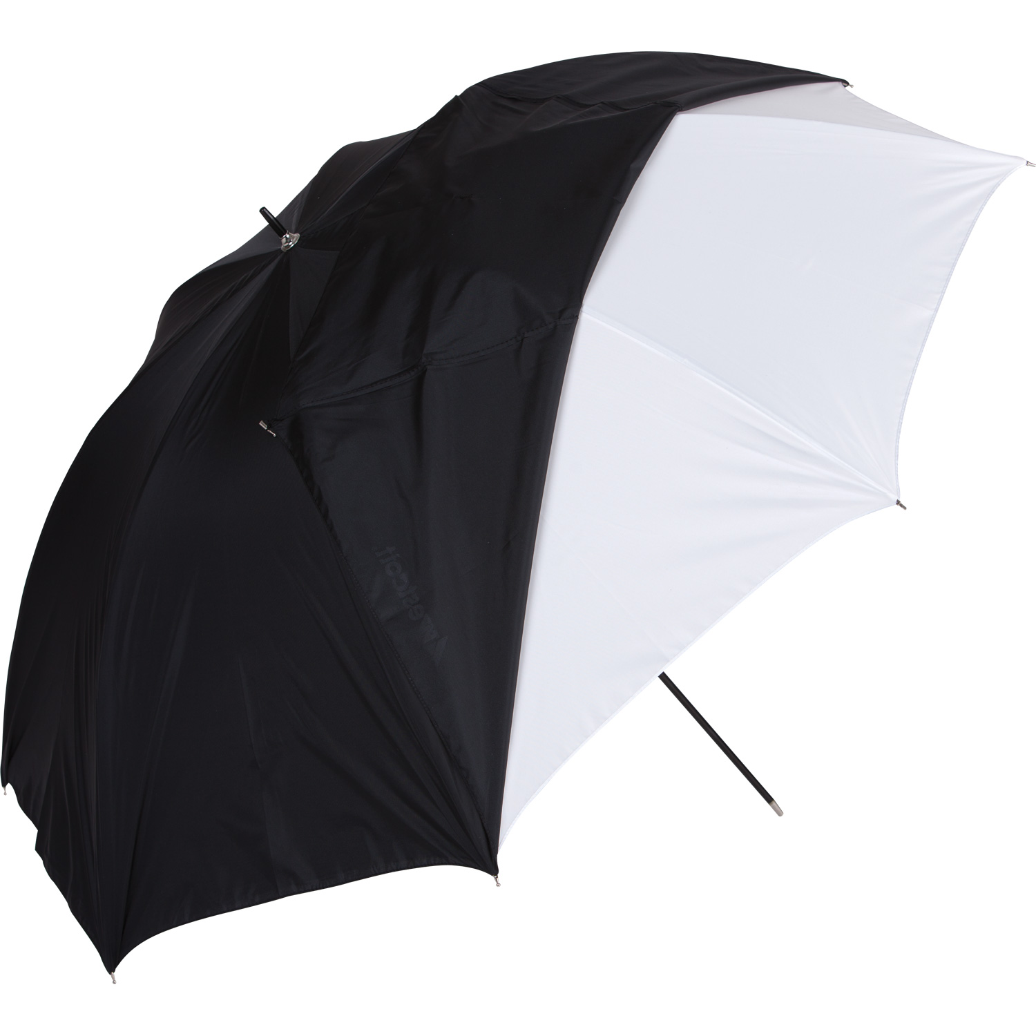 45-in. White Satin Umbrella with Removable Black Cover