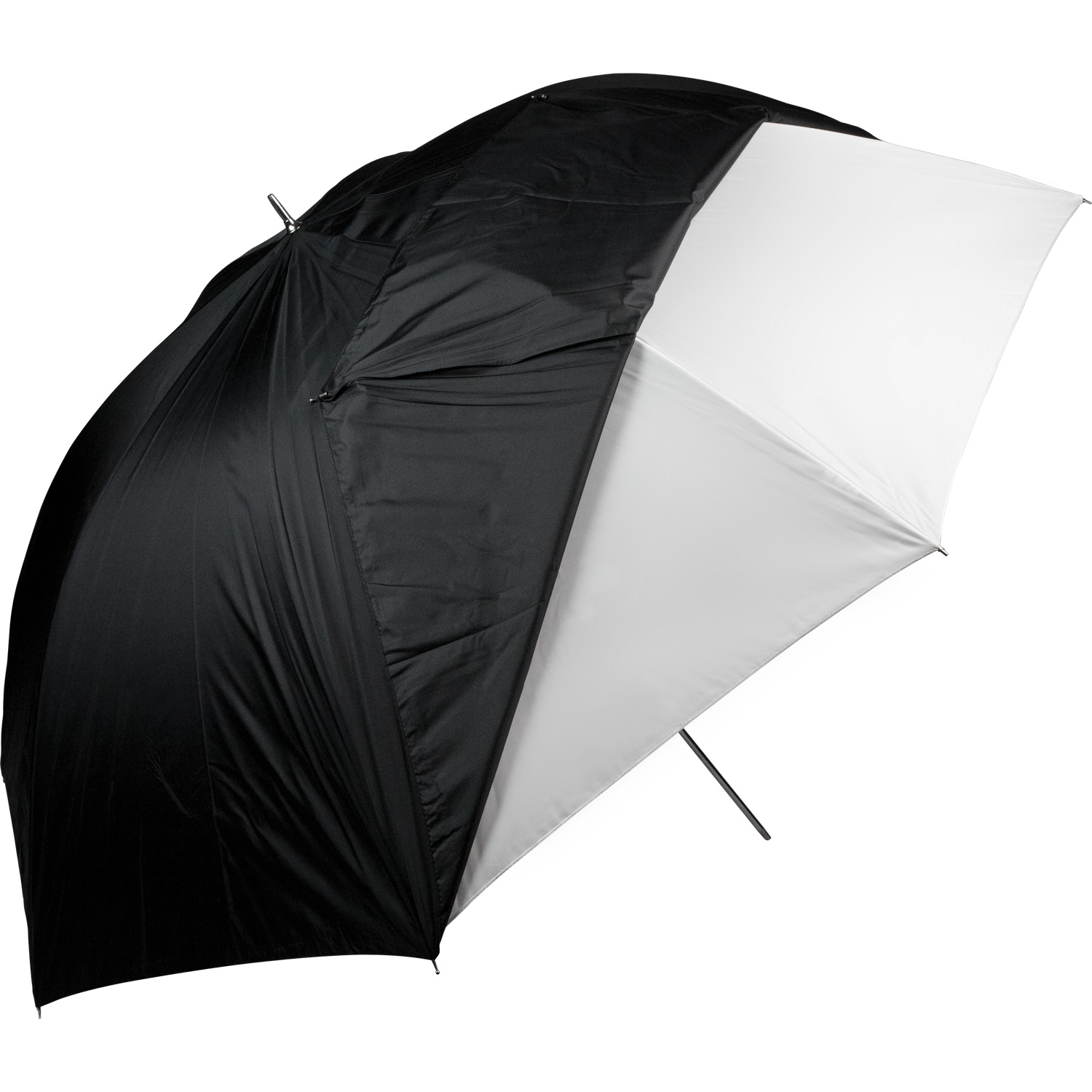 60-in. White Satin Umbrella with Removable Black Cover