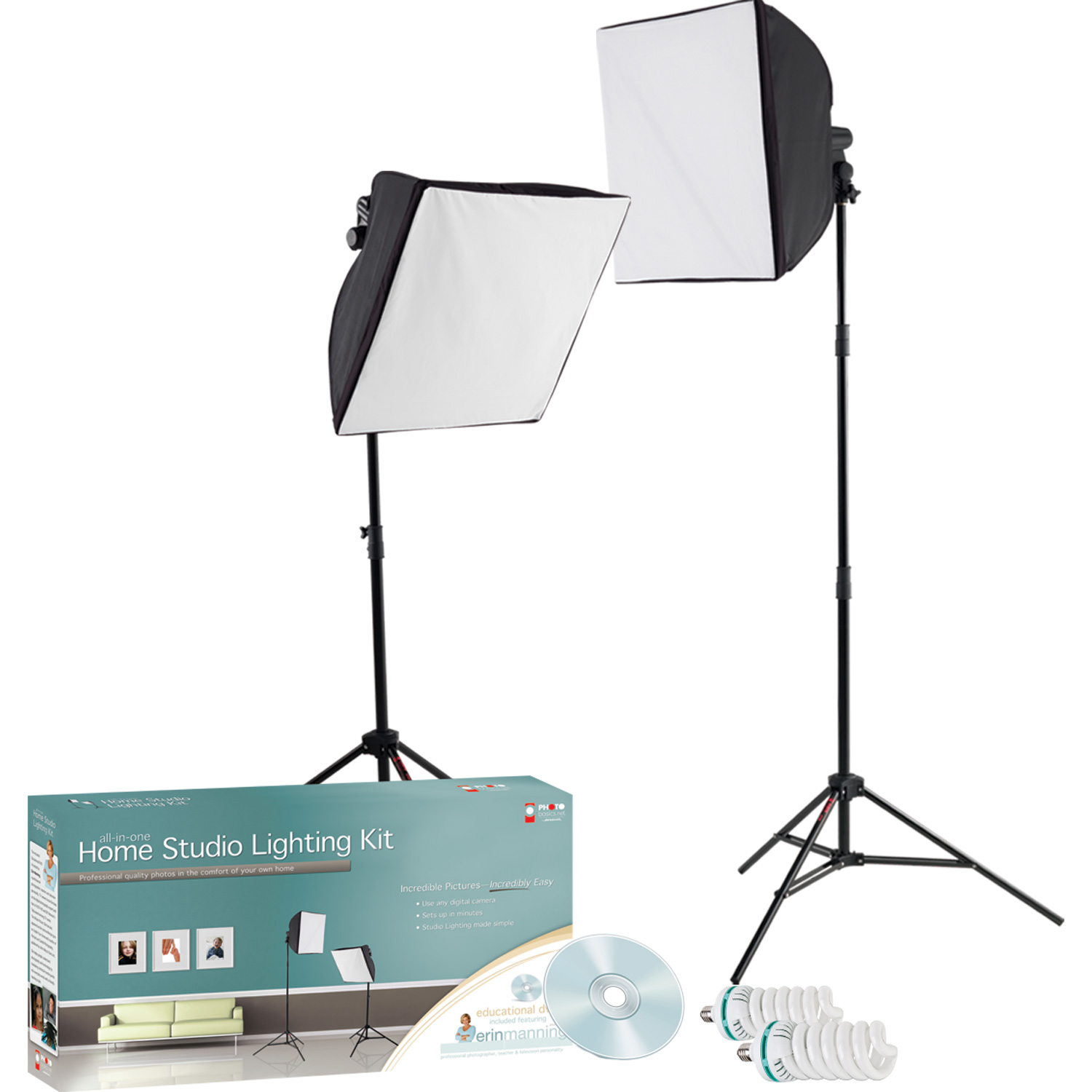 407 1 Holiday Photos with Green Screen Lighting Kit