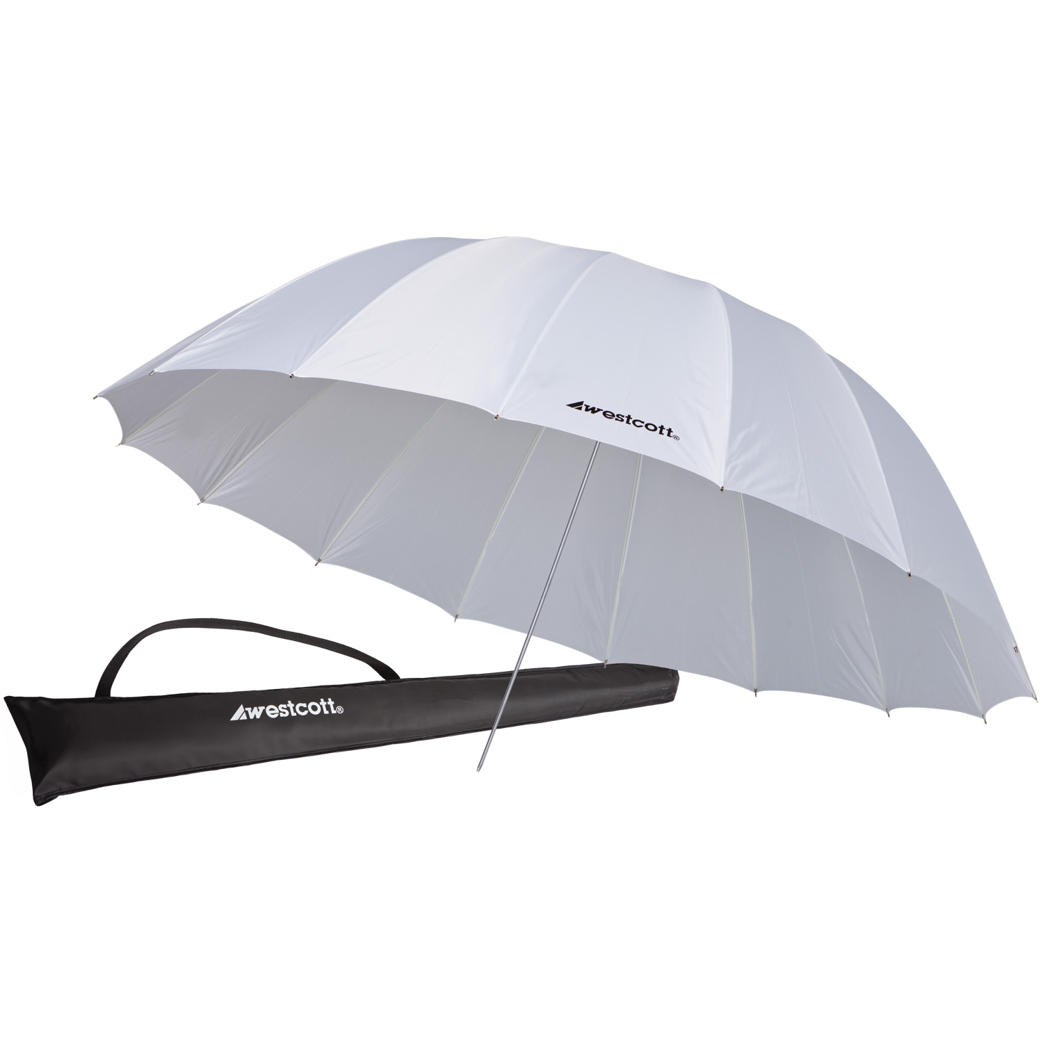 7' Parabolic Umbrella, White Diffusion