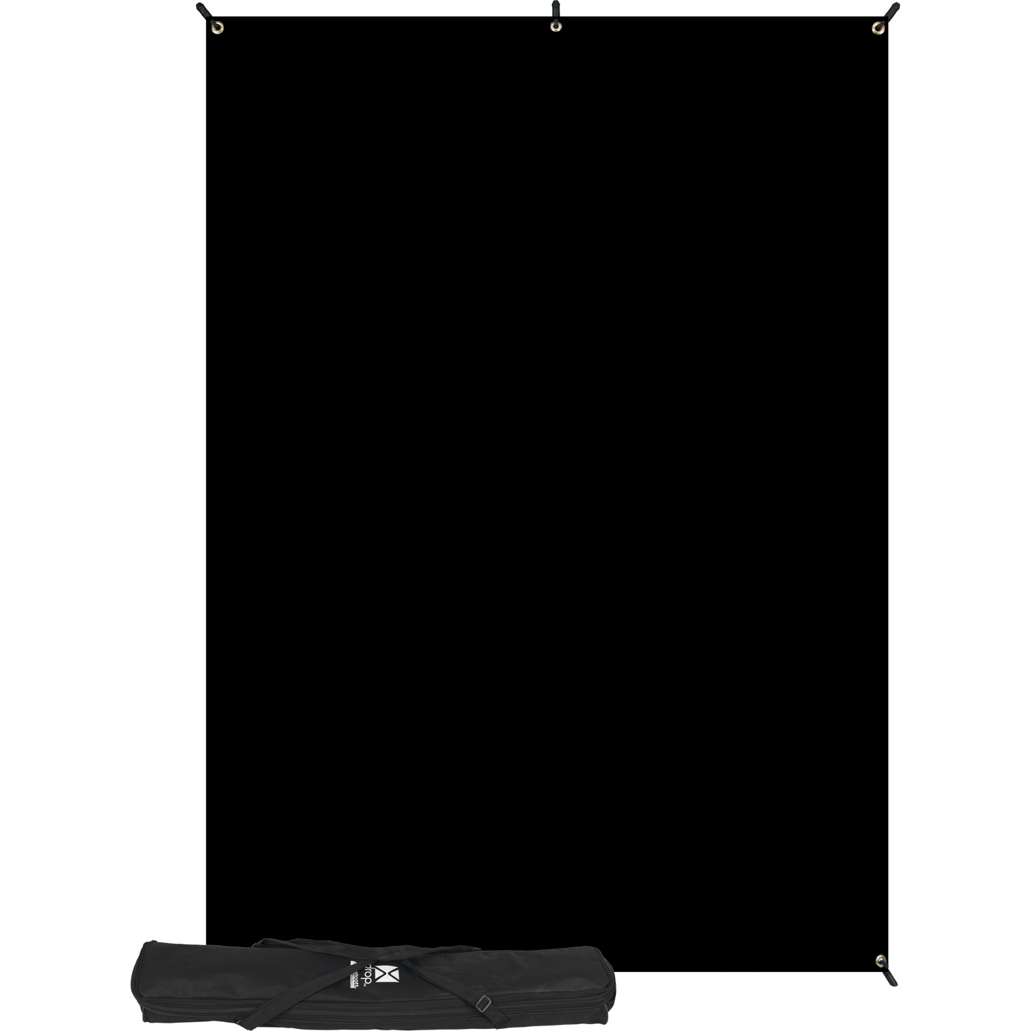5' x 7' Rich Black X-Drop Backdrop Kit
