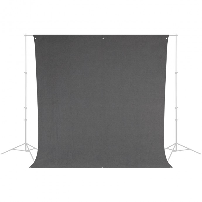 9' x 10' Neutral Gray, Wrinkle-Resistant Backdrop