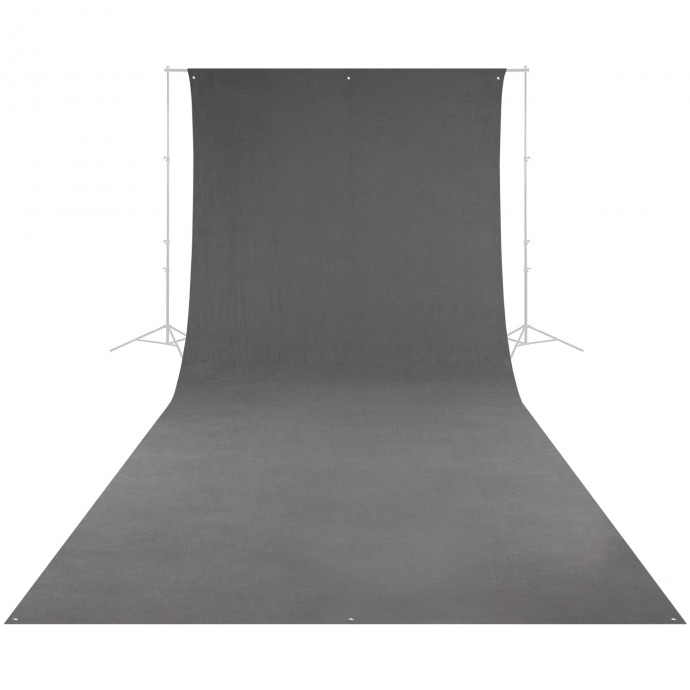 9' x 20' Neutral Gray, Wrinkle-Resistant Backdrop