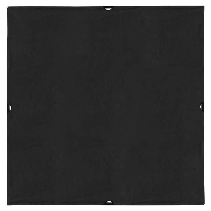 Scrim Jim Cine 6' x 6' Solid Black Block Fabric