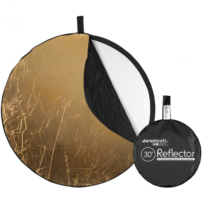 Basics 30-inch 5-in-1 Reflector with Gold, Silver, White, Black, and Diffusion Surfaces