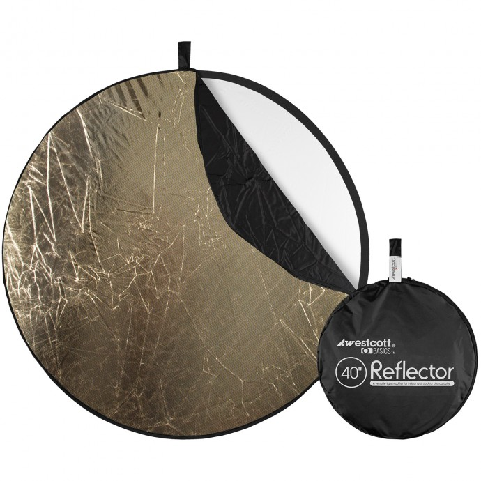 Basics 40-inch 5-in-1 Reflector with Sunlight, Silver, White, Black, and Diffusion Surfaces