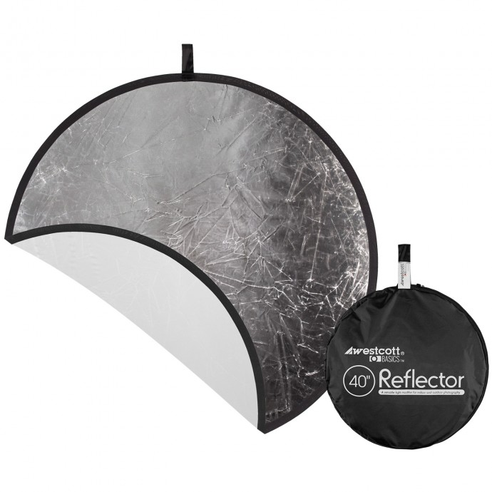 Basics 40 inch Silver/White Reflector Panel