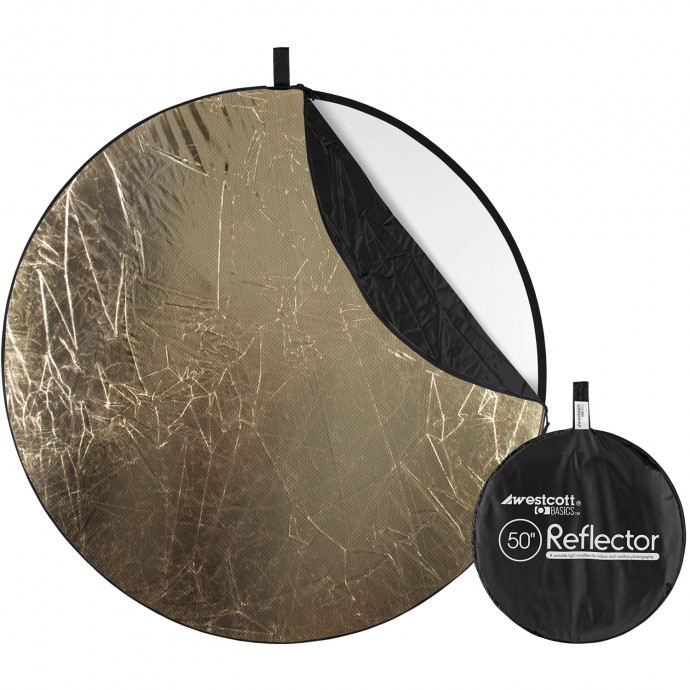 Basics 50-inch 5-in-1 Reflector with Sunlight, Silver, White, Black, and Diffusion Surfaces