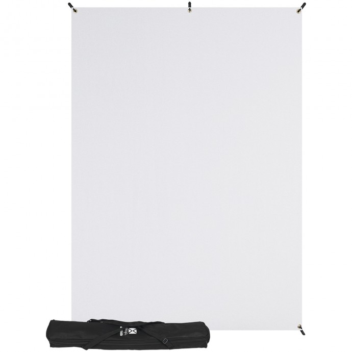 X-Drop Kit with 5' x 7' Wrinkle-Resistant Backdrop (High-Key White)