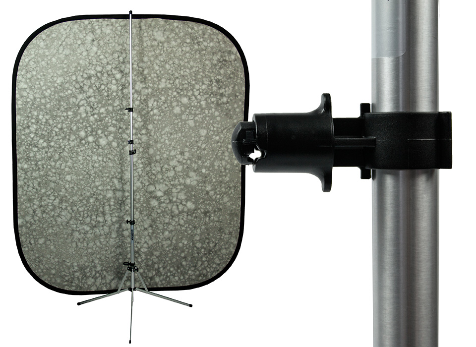 Collapsible backdrop stand mount