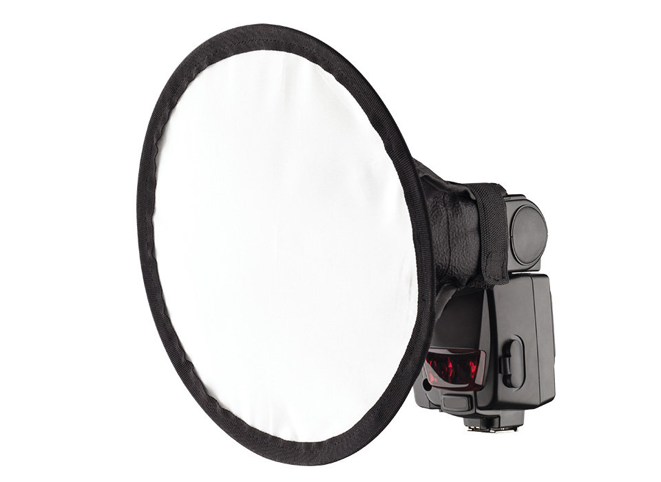 Round camera speedlite flash light modifier