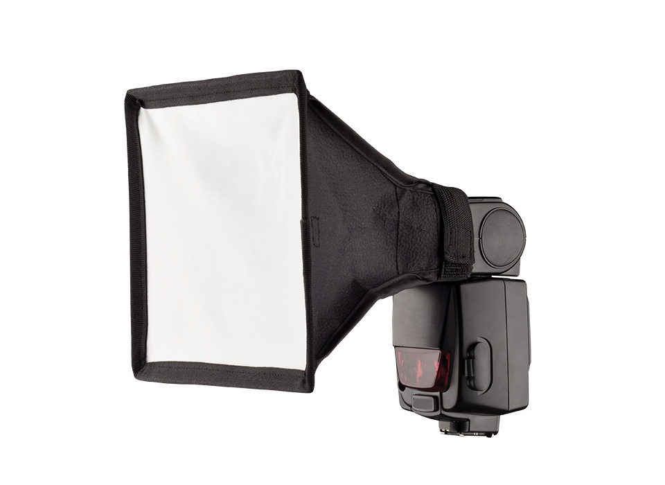 Square camera speedlite flash light modifier