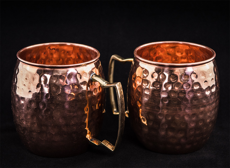 Moscow mule cups product photography using Digitent