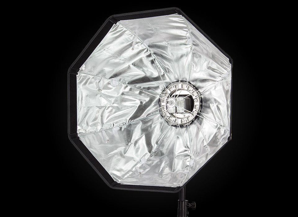 Rapid Box Duo softbox with two speedlight flash heads