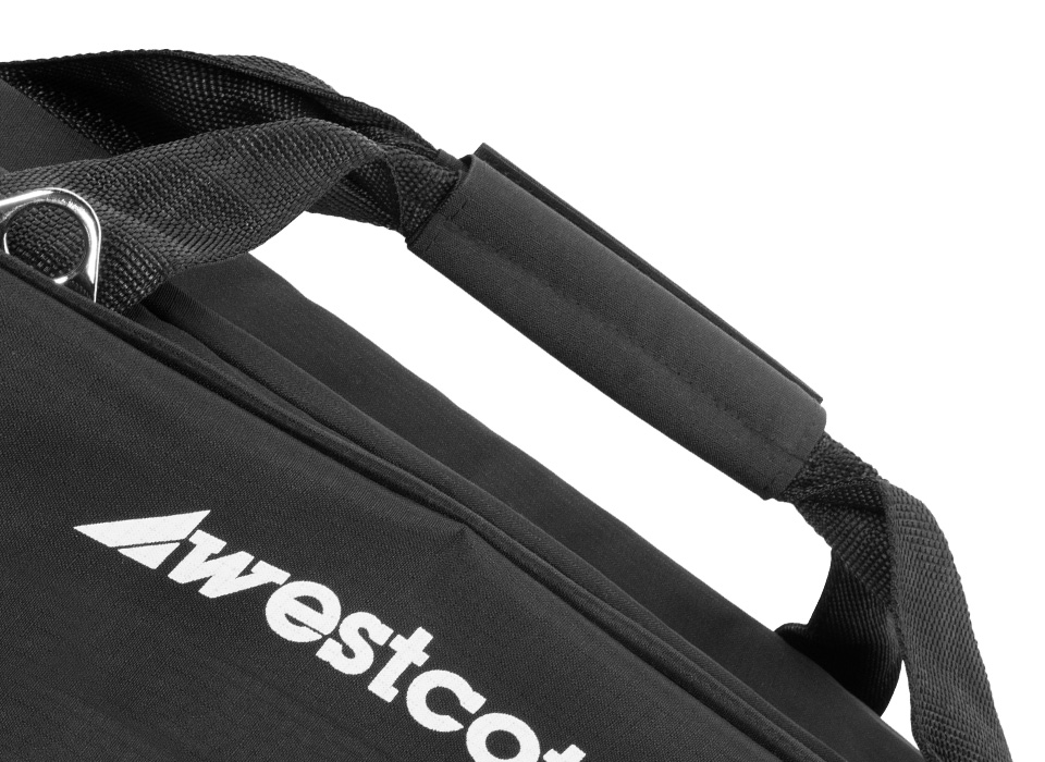 Soft sided carry case with durable handle and thick exterior fabric
