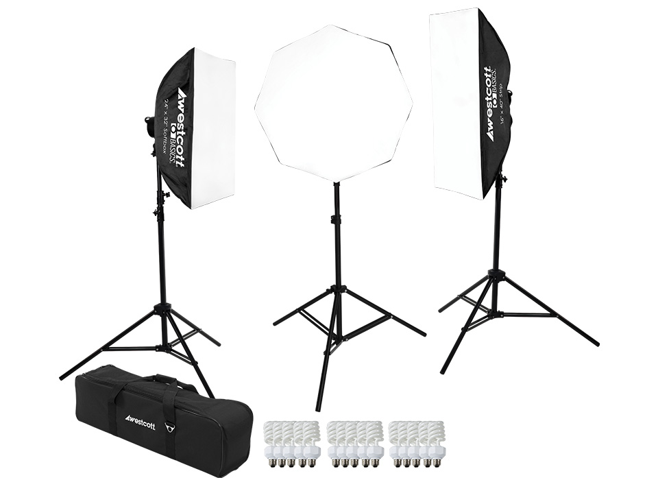 Complete D5 photo and video fluorescent lighting kit