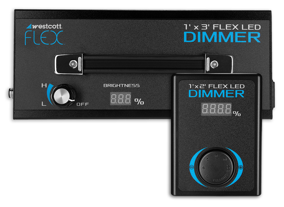 Flex LED daylight mat dimmer control