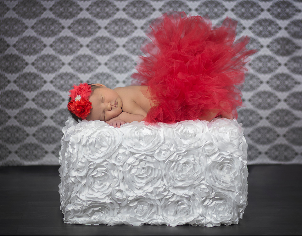 Colorful rose blanket prop for newborn photography