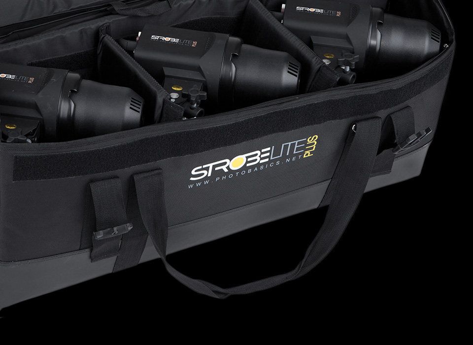 Strobelite wheeled carry case compartments