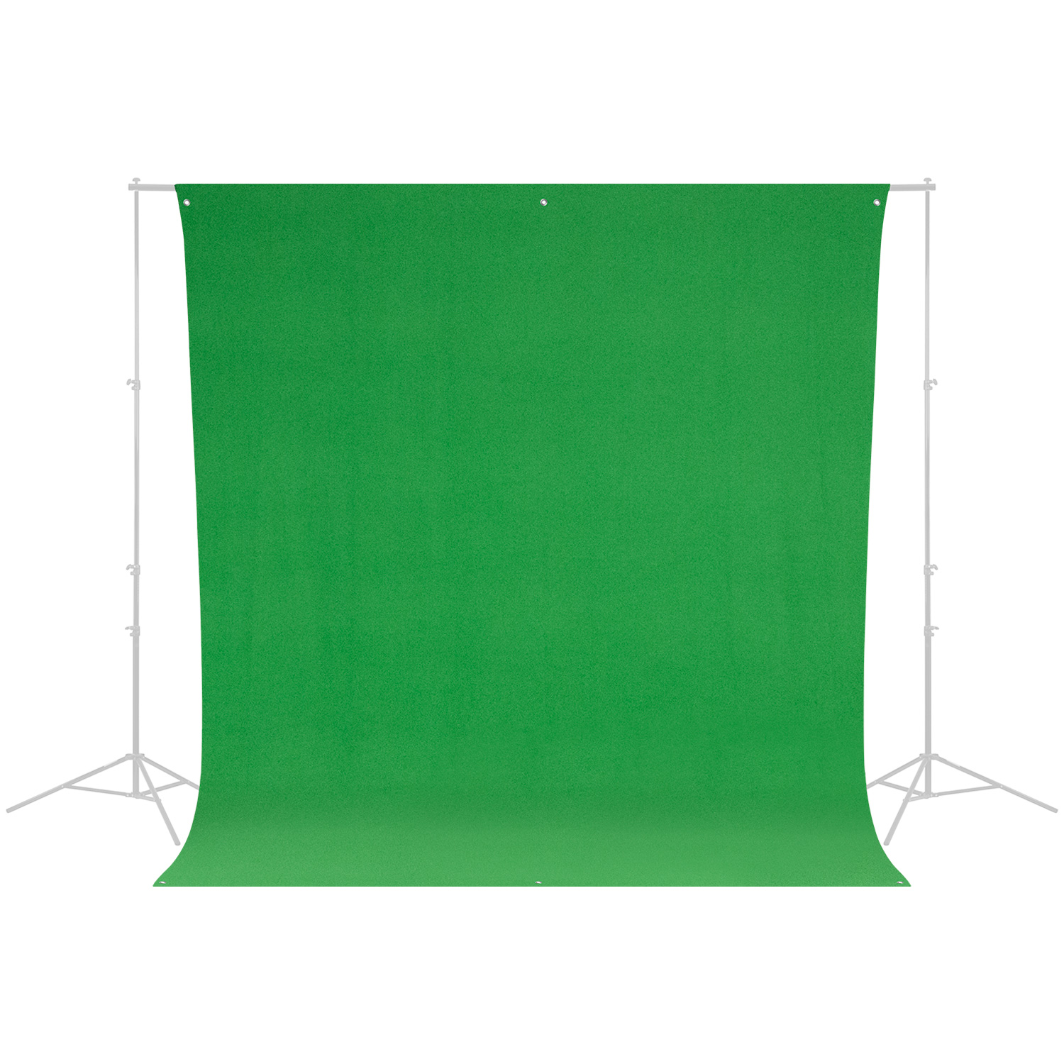 Wrinkle-Resistant Backdrop - Chroma-Key Green Screen (9' x 10')