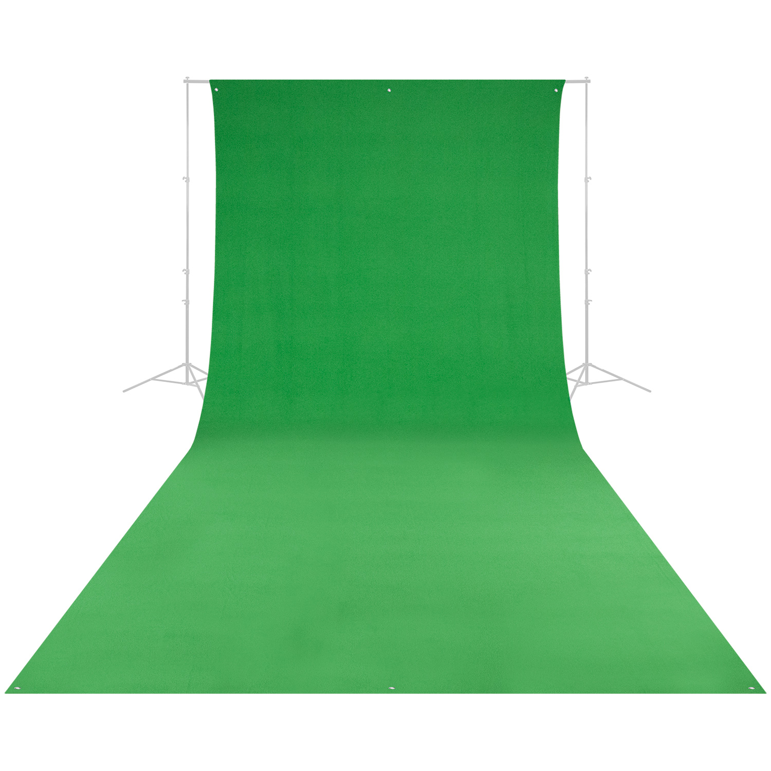 Wrinkle-Resistant Backdrop - Chroma-Key Green Screen (9' x 20')