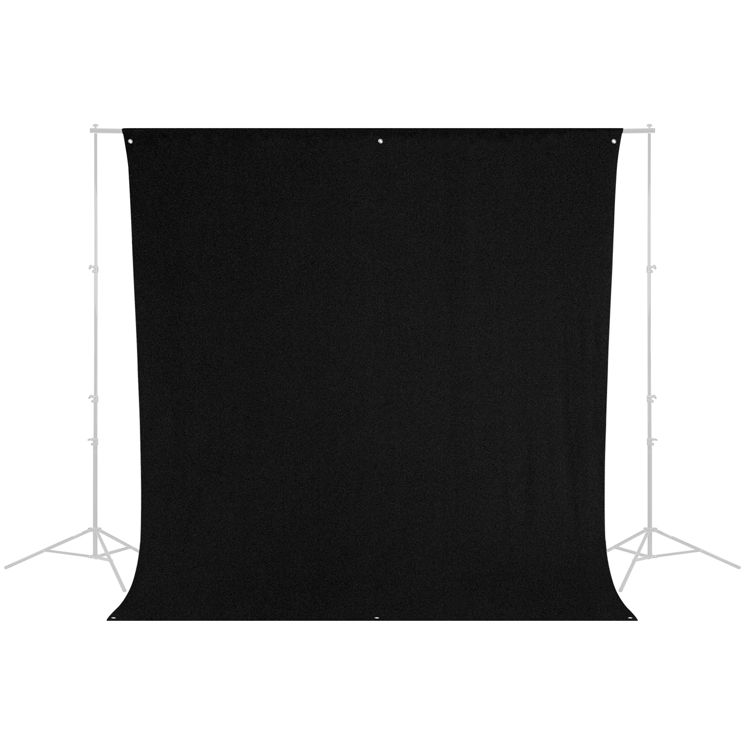 9' x 10' Wrinkle-Resistant Backdrop (Rich Black)