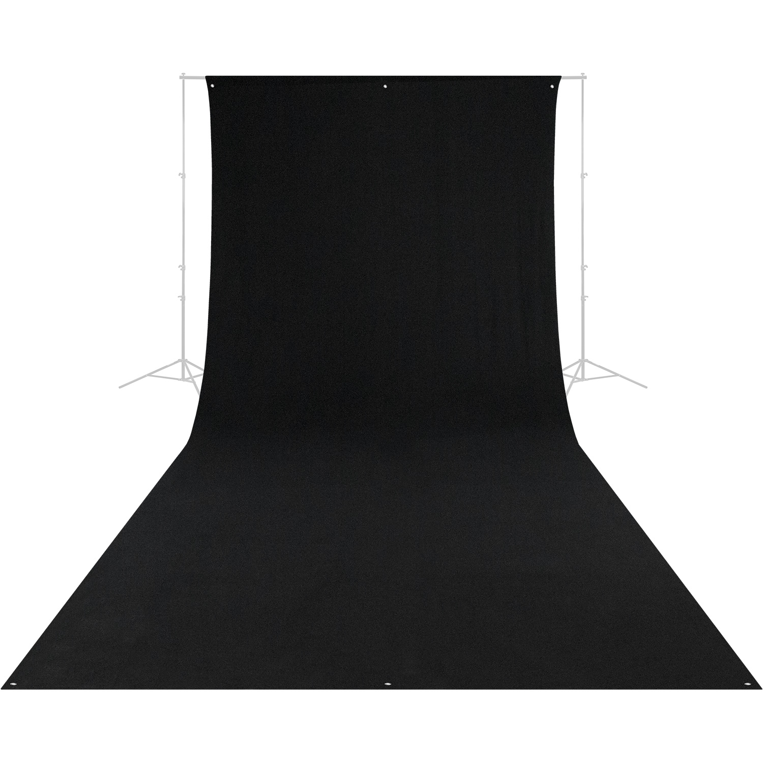 Wrinkle-Resistant Backdrop - Rich Black (9' x 20')