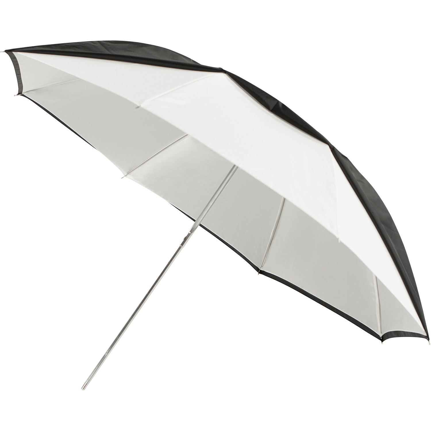 Convertible Compact Collapsible Umbrella - Optical White Satin with Removable Black Cover (43-in.)