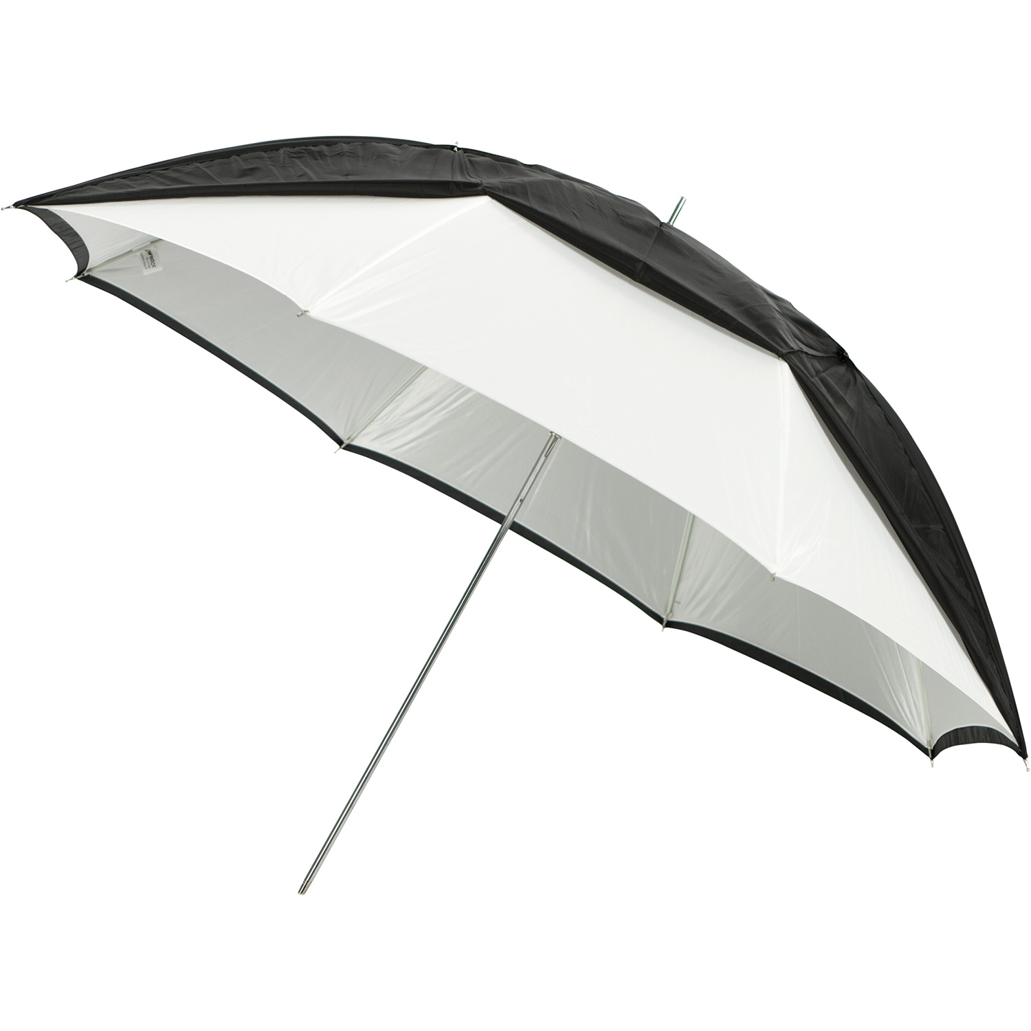Convertible Umbrella - Optical White Satin with Removable Black Cover (45-in.)