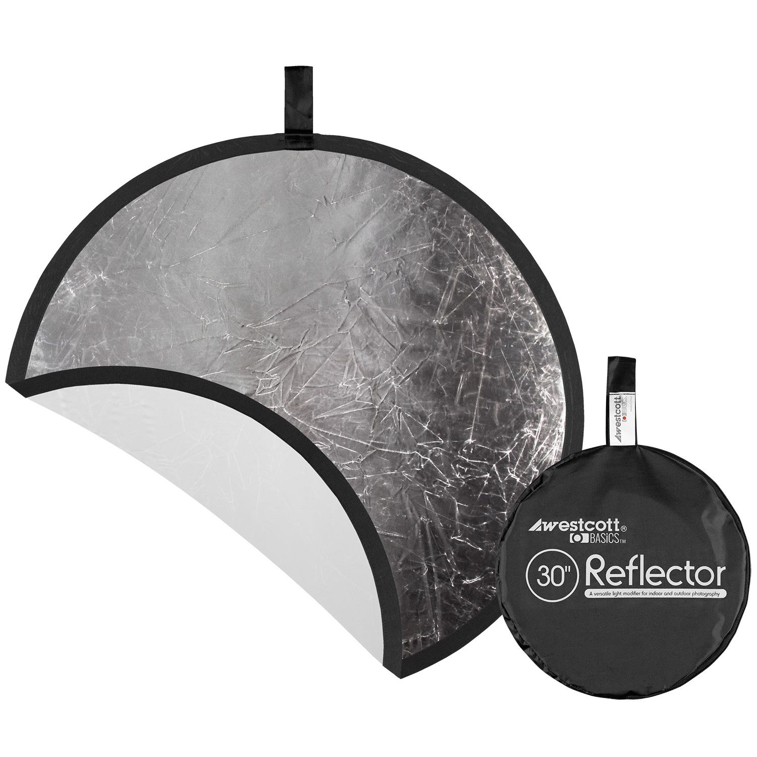 Collapsible 2-in-1 Silver/White Bounce Reflector (30-in.)