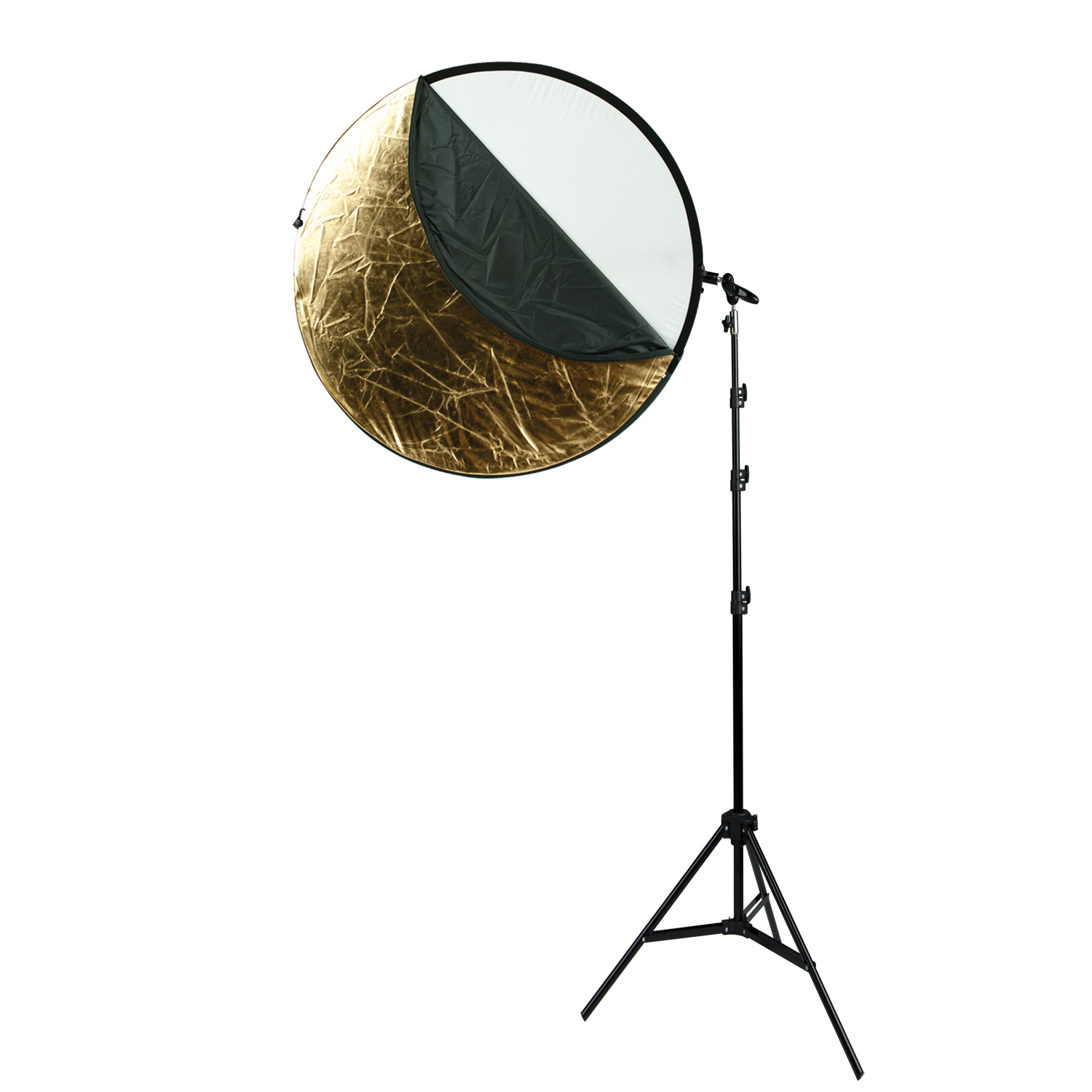 Collapsible 5-in-1 Reflector Kit with Gold Surface (40-in.)