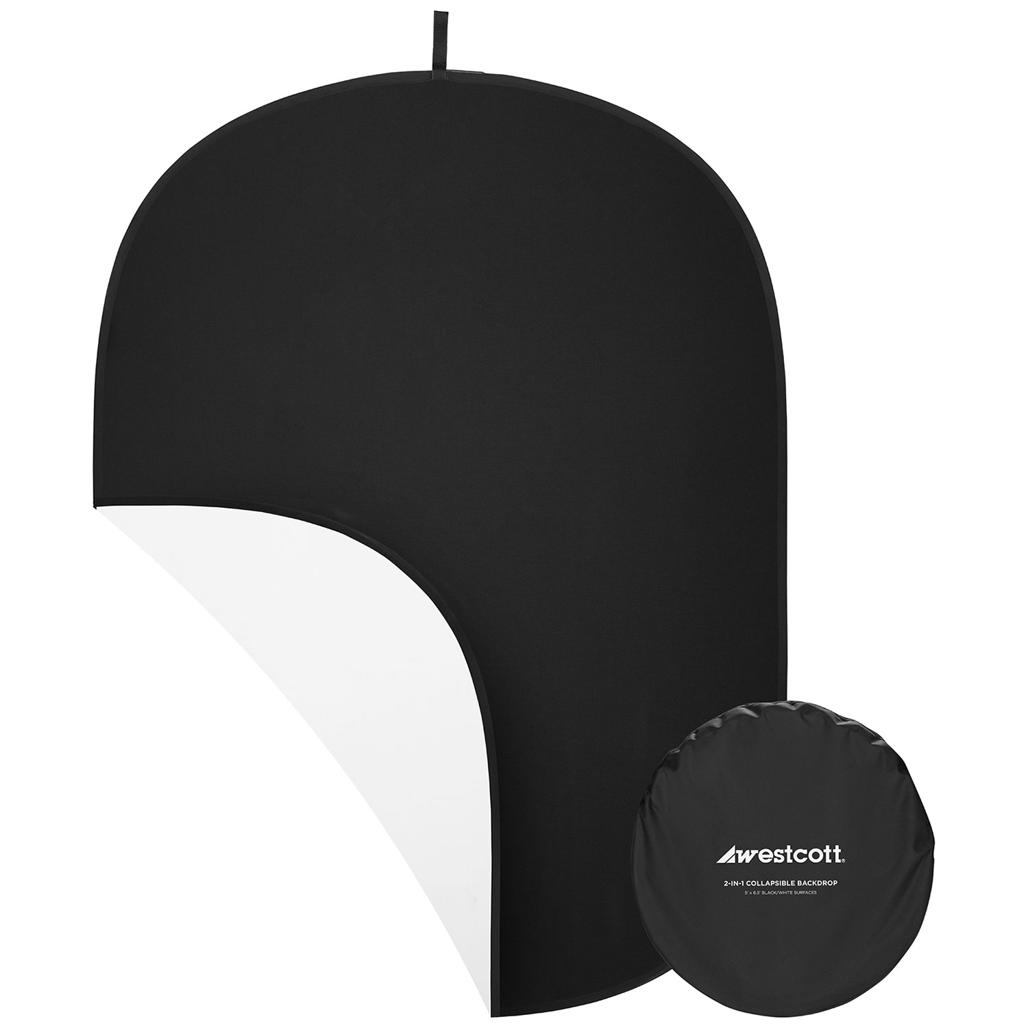 Collapsible 2-in-1 Black & White Backdrop (5' x 6.5')