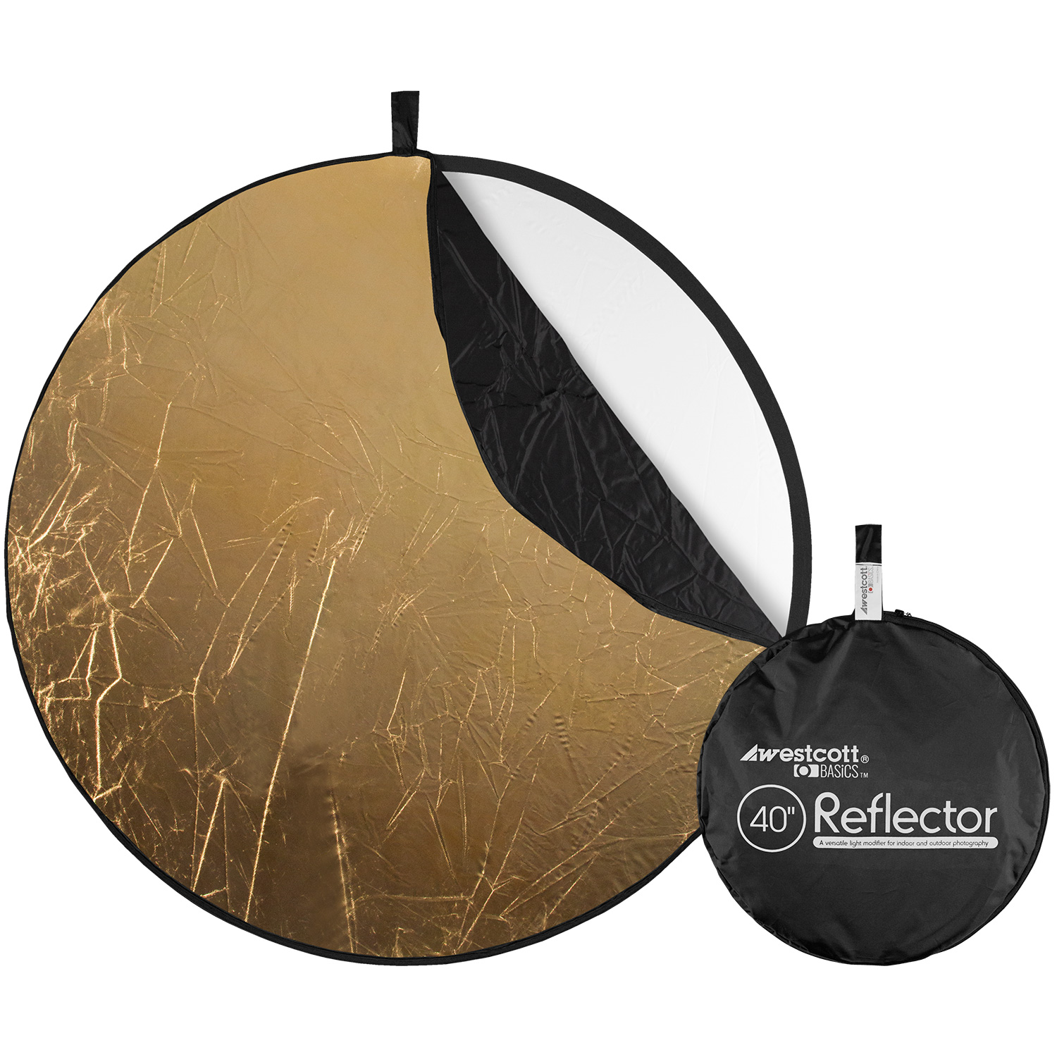 Collapsible 5-in-1 Reflector with Gold Surface (40-in.)