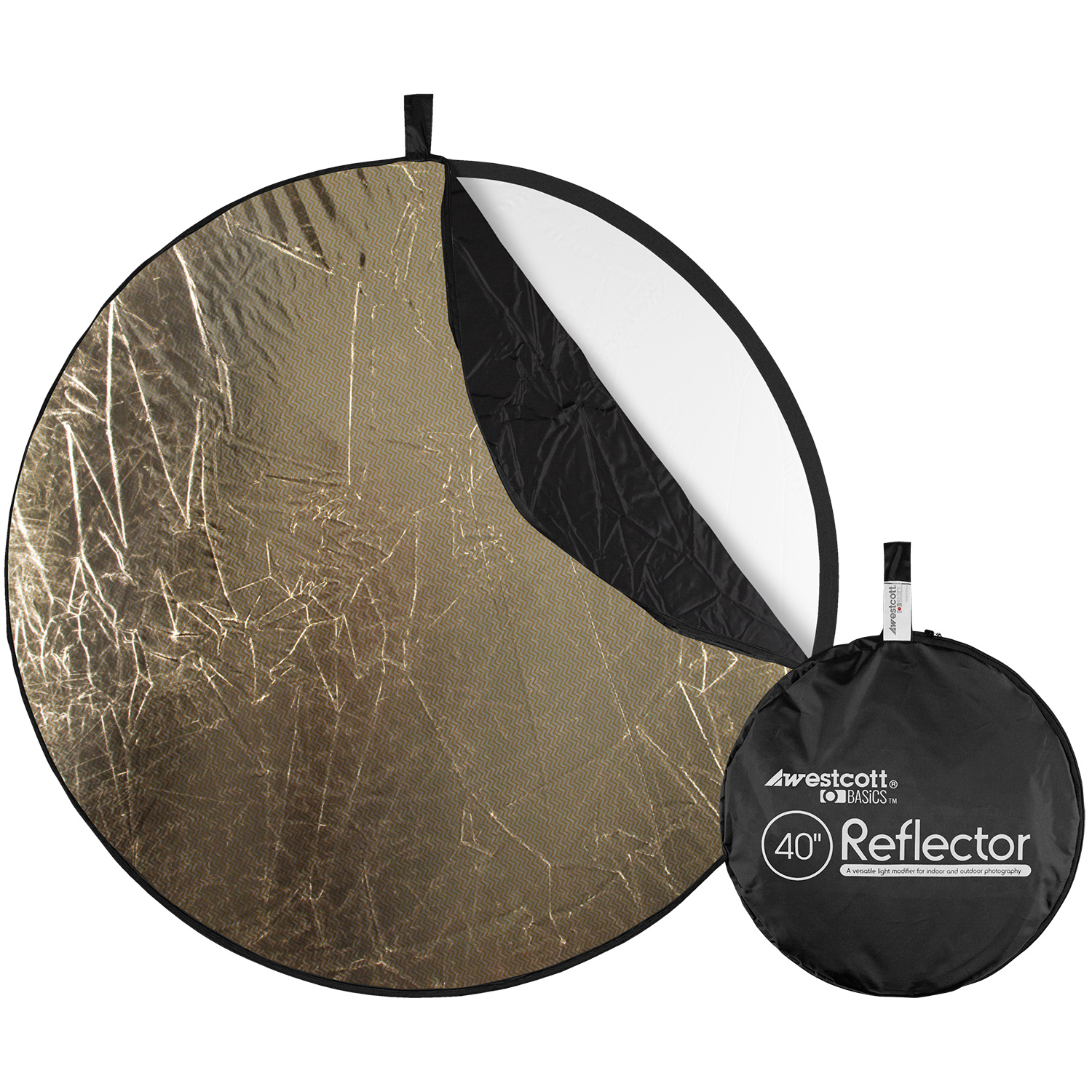 Collapsible 5-in-1 Reflector with Sunlight Surface (40-in.)
