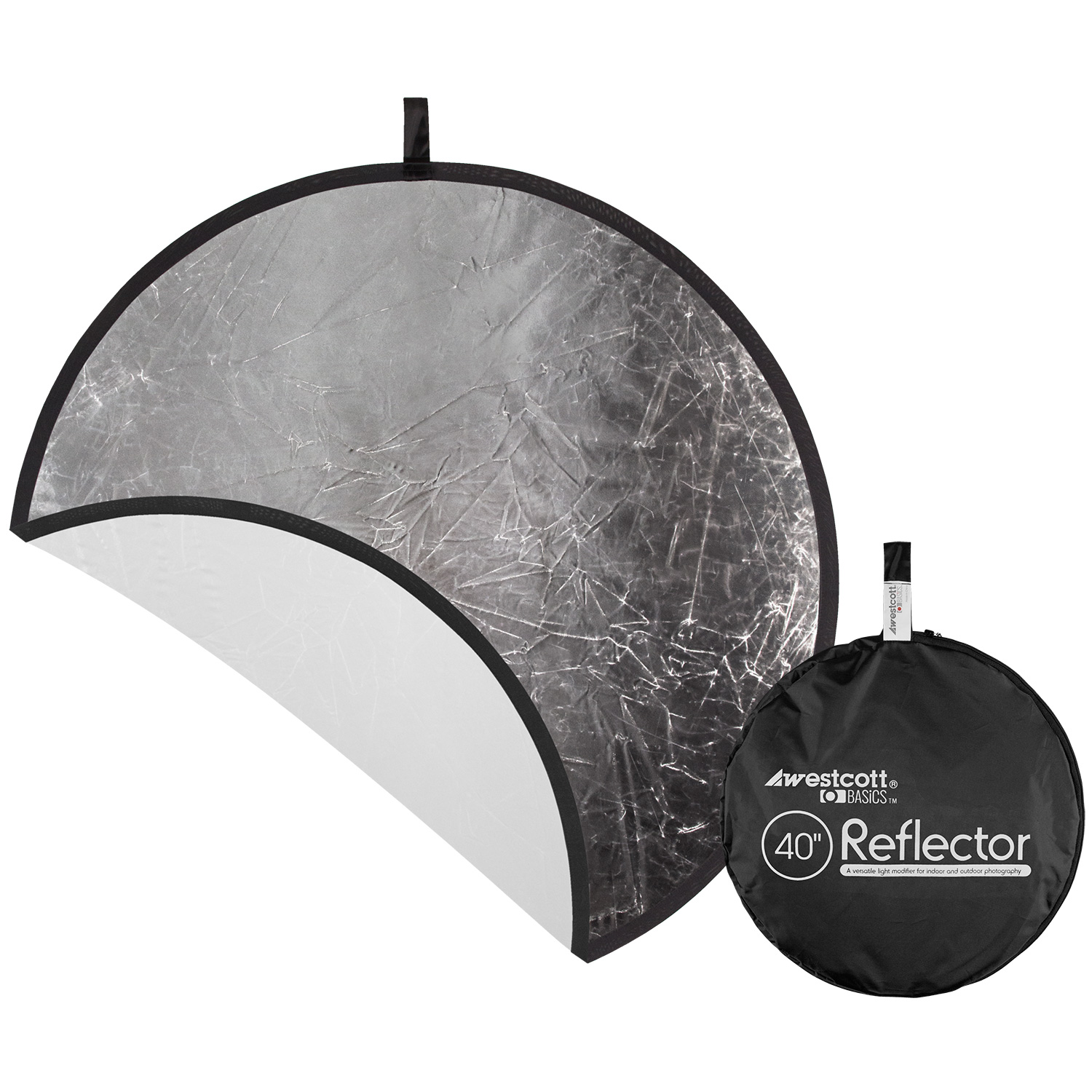 Collapsible 2-in-1 Silver/White Bounce Reflector (40-in.)