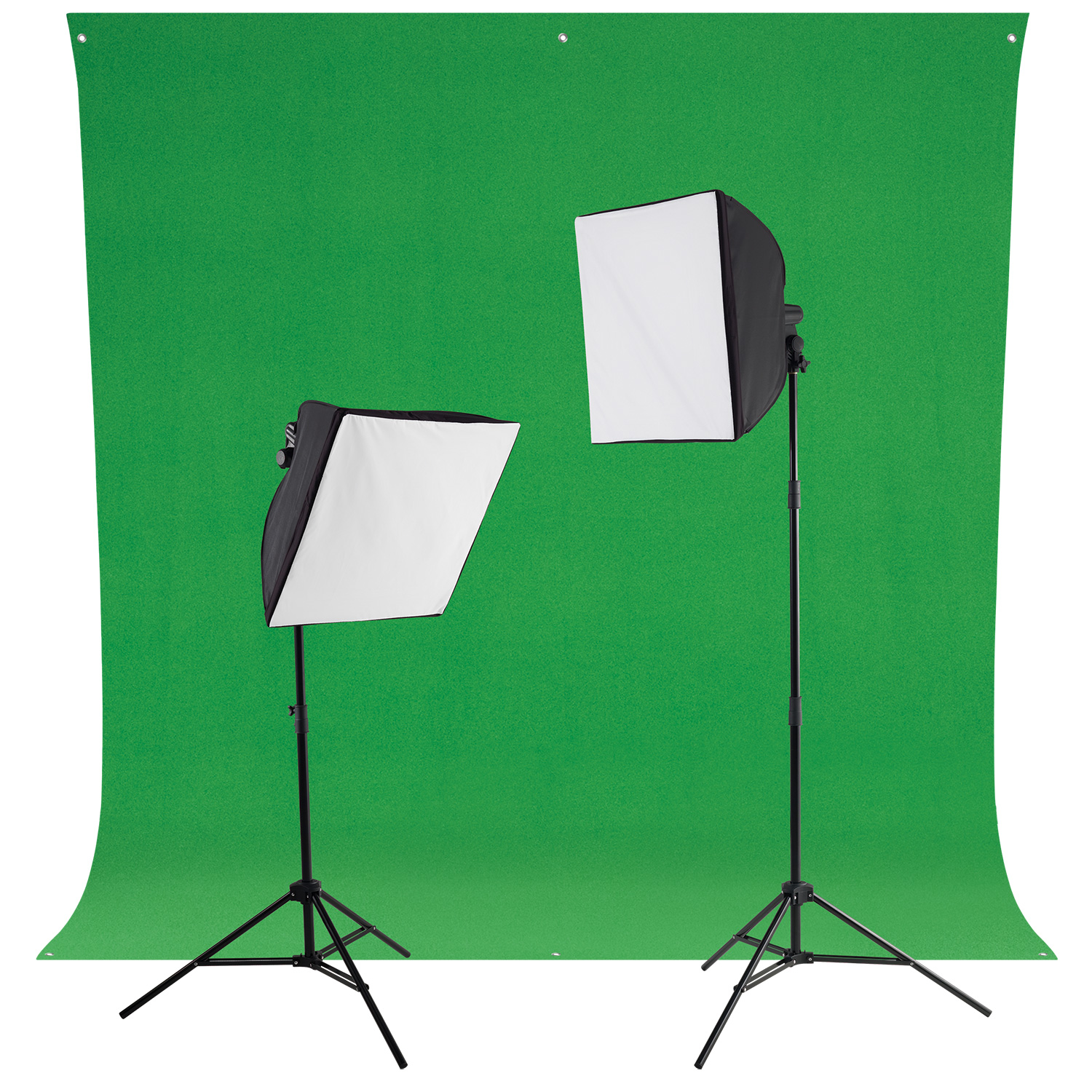 uLite Green Screen Photo Lighting Kit with LED Bulbs
