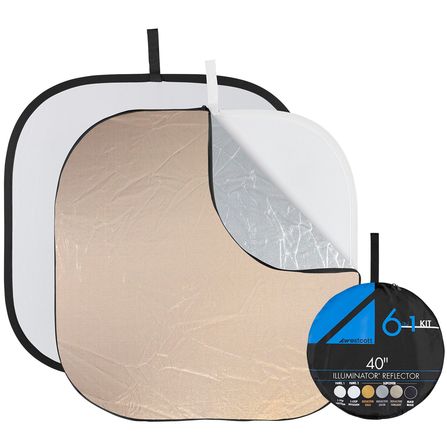 Illuminator Collapsible 6-in-1 Reflector (40-in.) with FREE Illuminator Arm