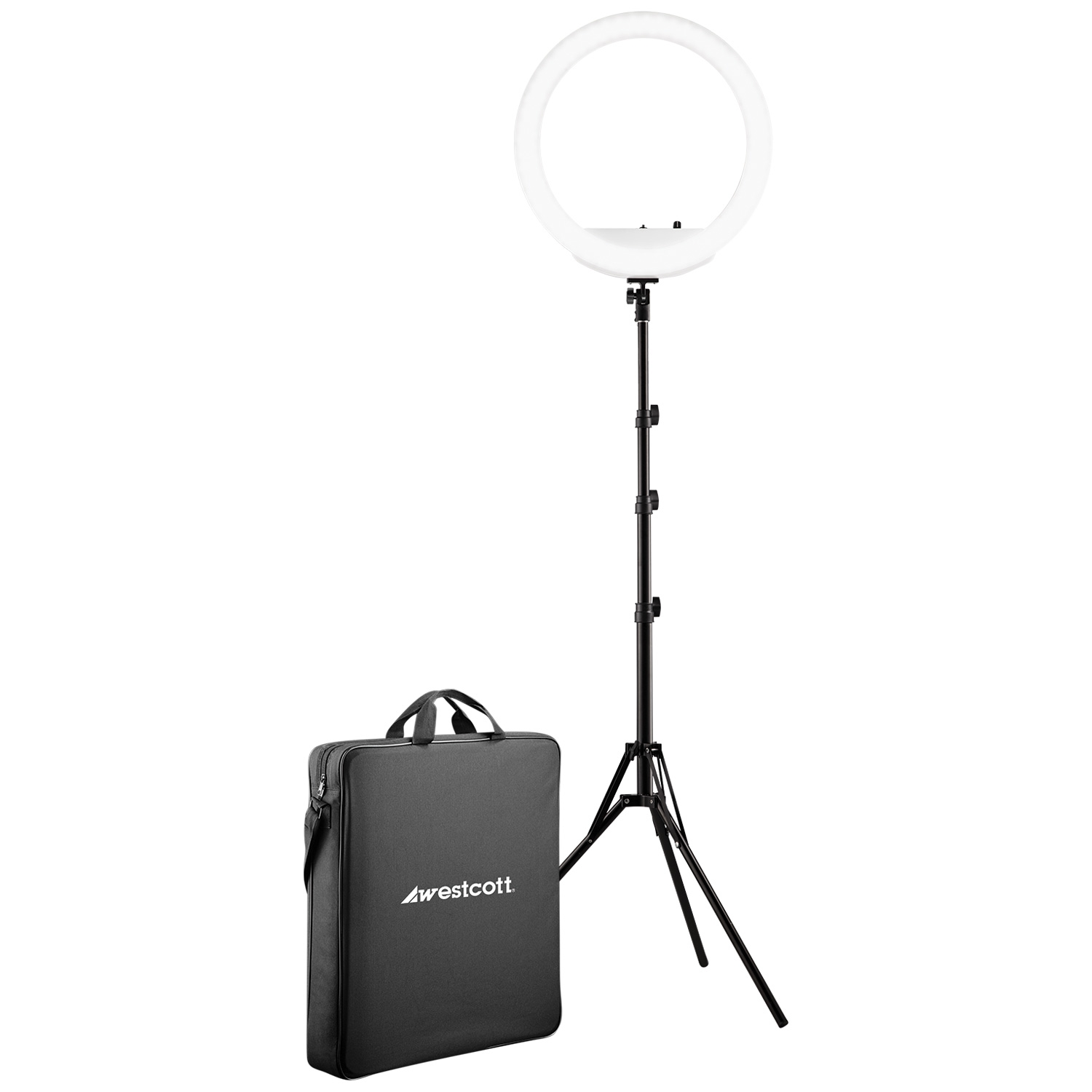 """18"""" Bi-Color LED Ring Light Kit with Batteries and Stand"""