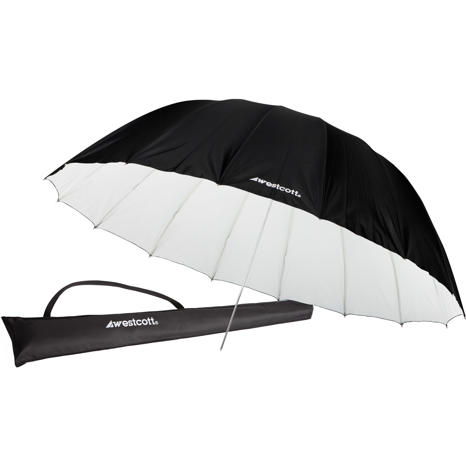 Standard Umbrella - White/Black Bounce (7')