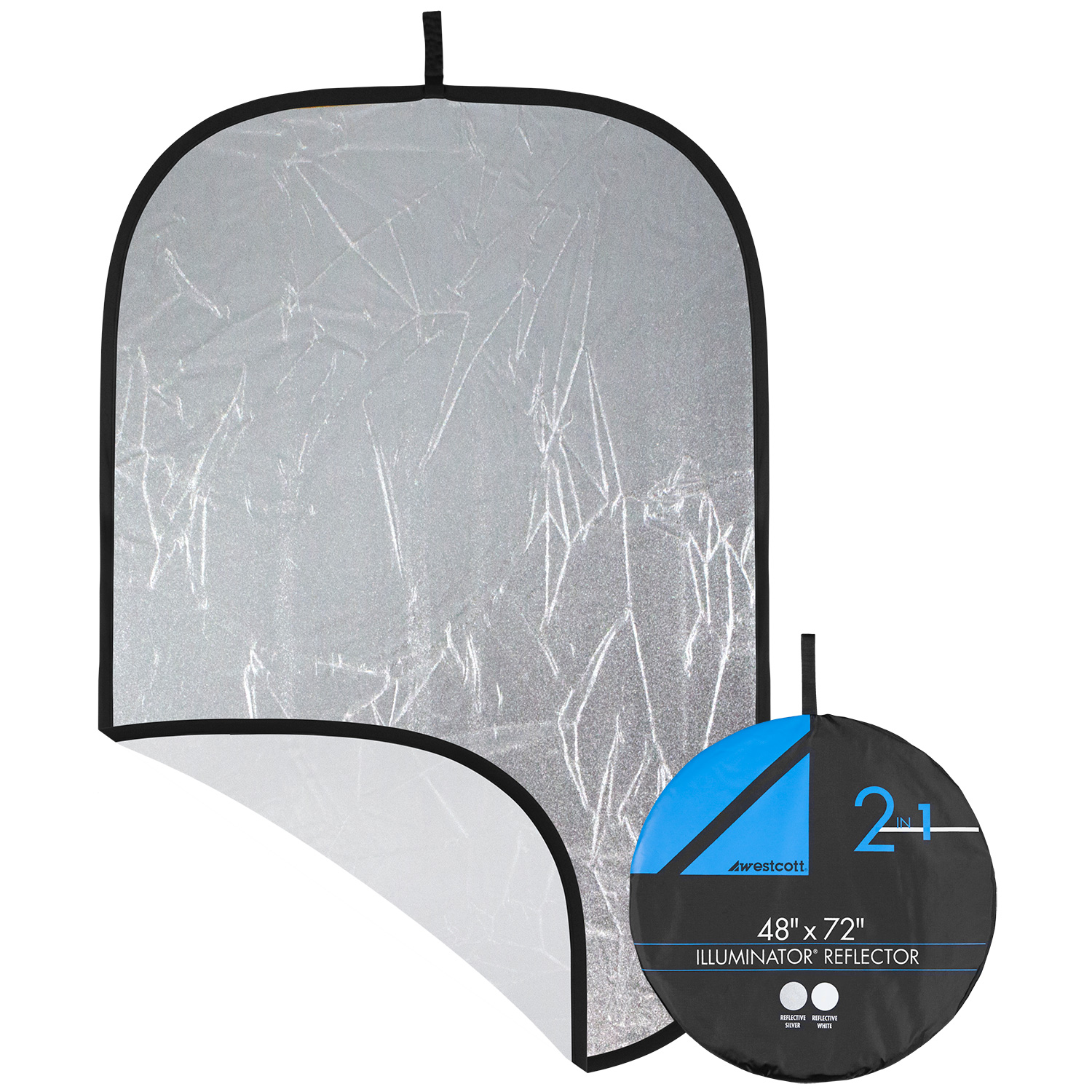 Illuminator Collapsible 2-in-1 Silver/White Bounce Reflector (48-in. x 72-in.)