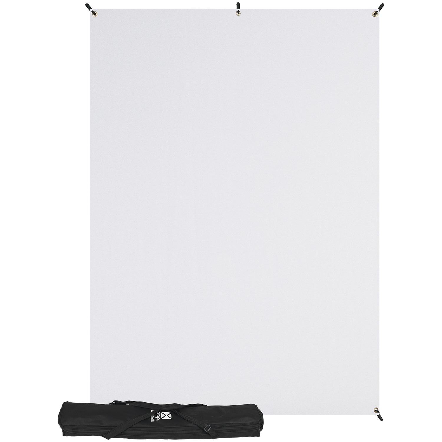 X-Drop Wrinkle-Resistant Backdrop - High-Key White Kit (5' x 7')
