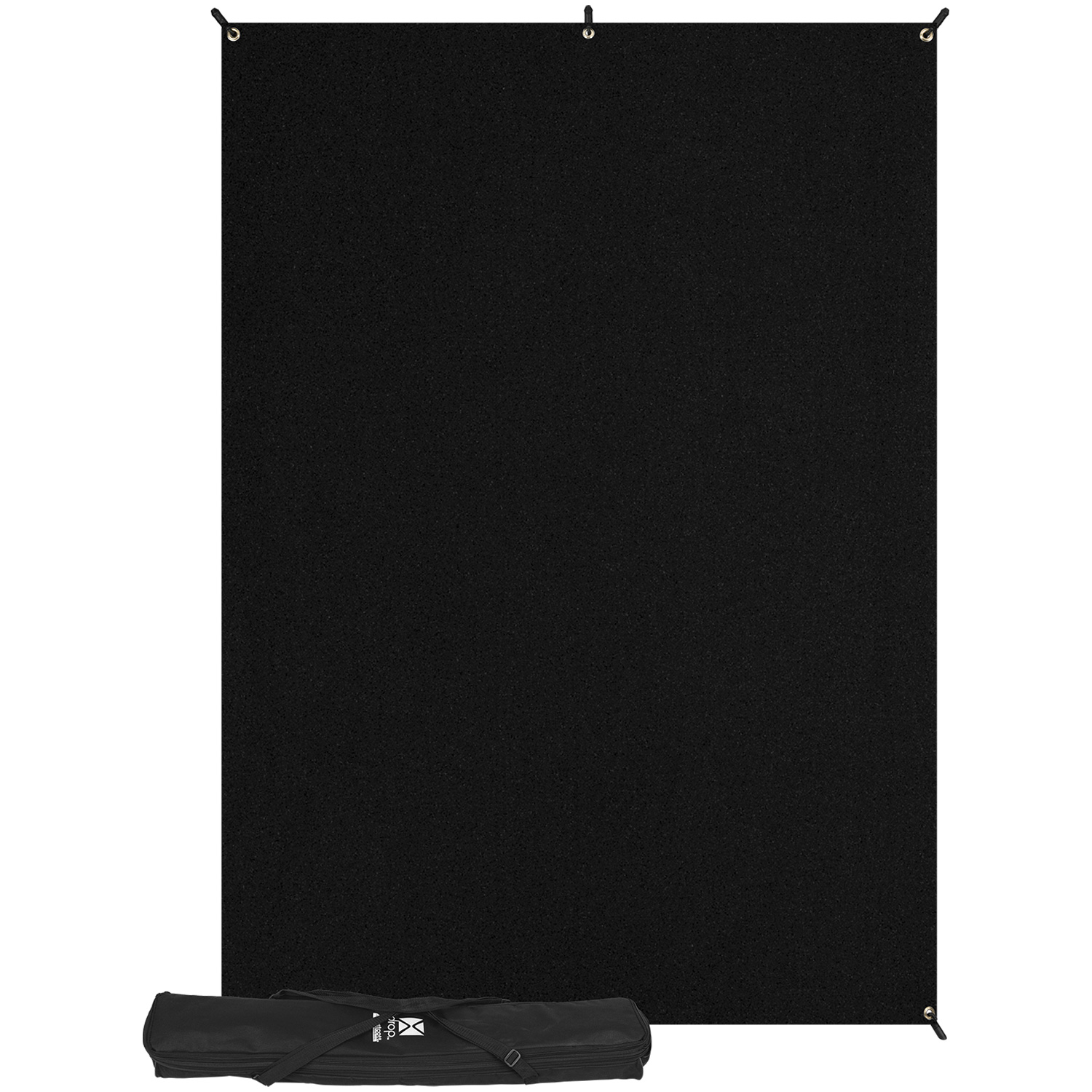X-Drop Kit with 5' x 7' Wrinkle-Resistant Backdrop (Rich Black)