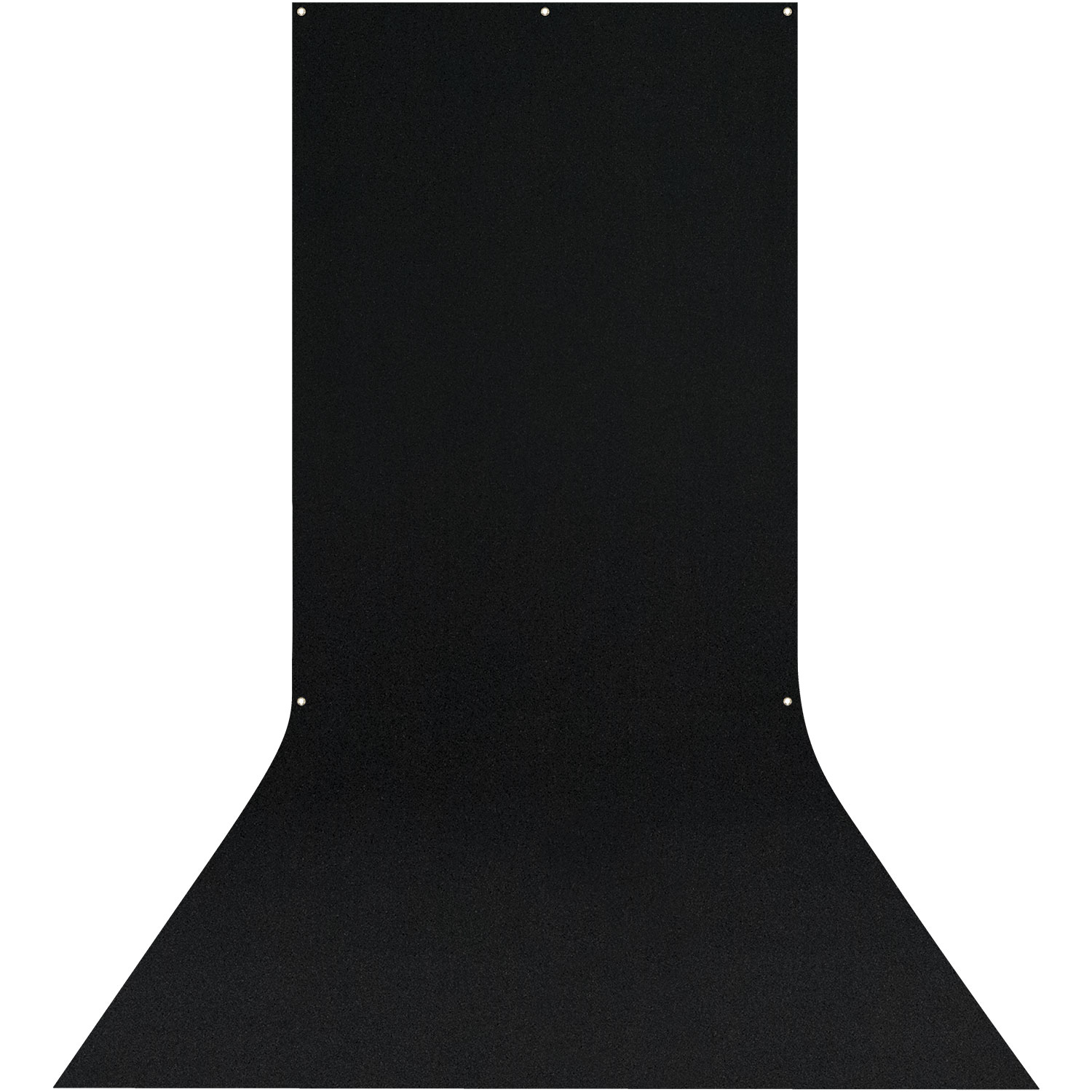X-Drop Wrinkle-Resistant Backdrop - Rich Black Sweep (5' x 12')