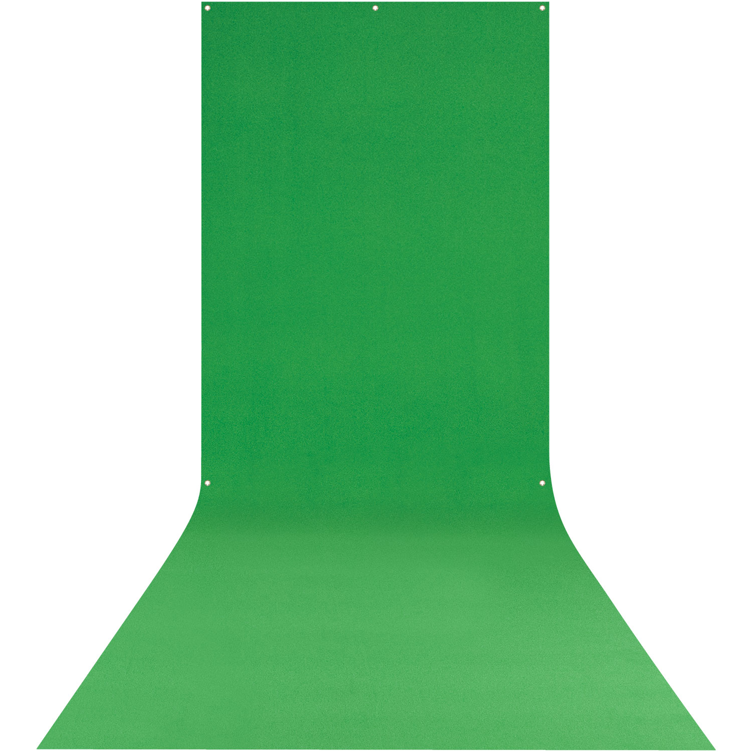 X-Drop Wrinkle-Resistant Backdrop - Chroma-Key Green Screen Sweep (5' x 12')