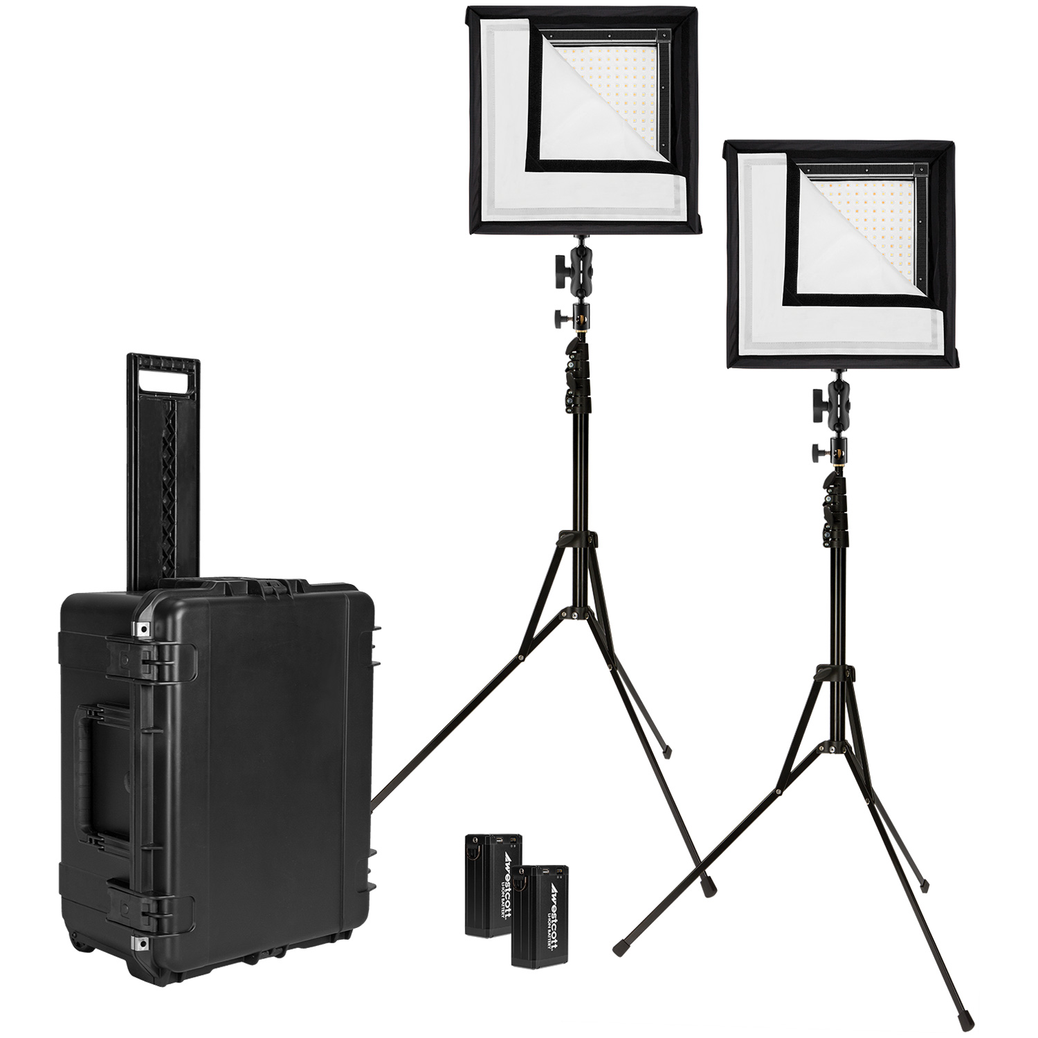 Original Flex Bi-Color LED 2-Light Travel Kit (1' x 1', US/CA Plug)