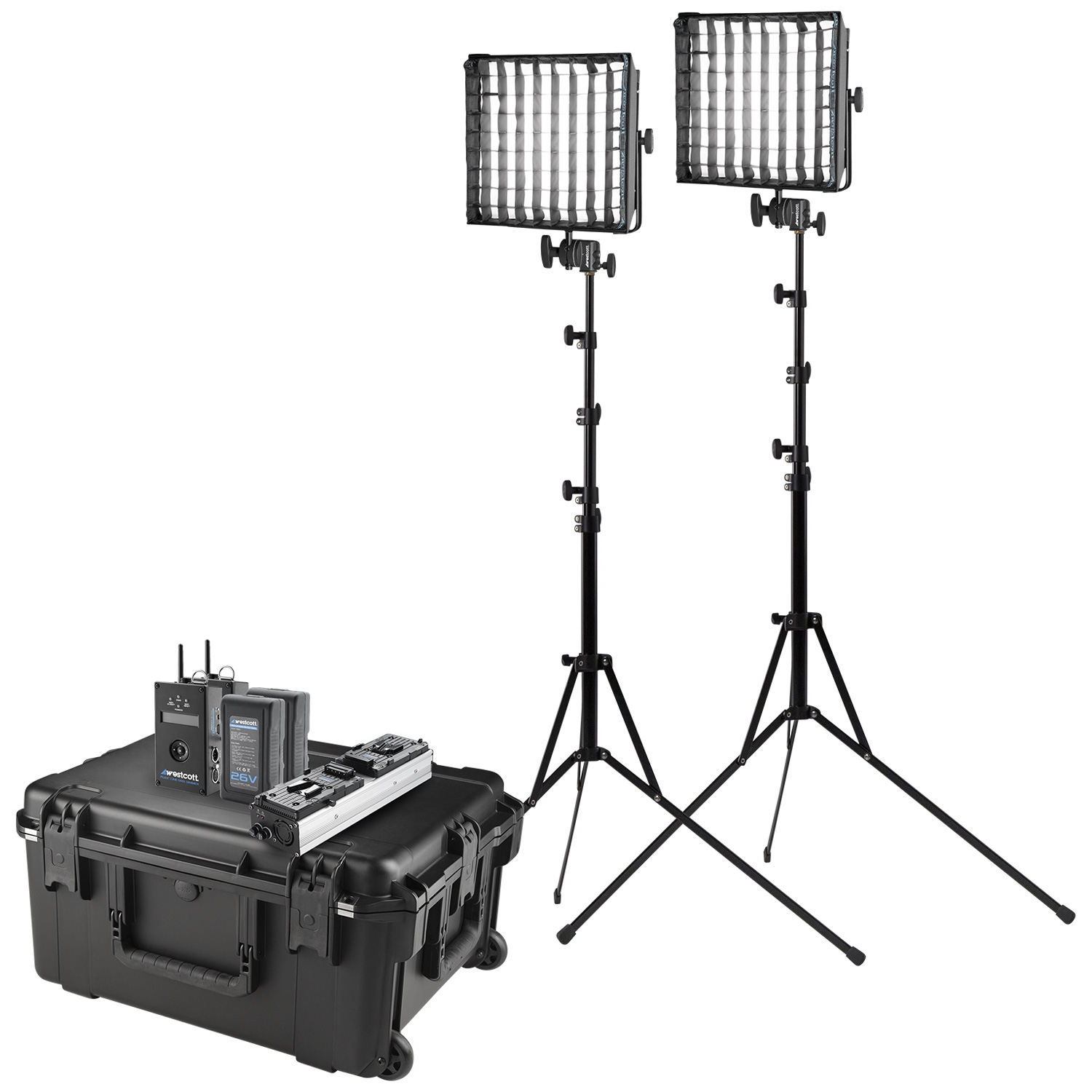 Flex Cine DMX RGBW 2-Light Travel Kit (US/CA Plug, 1' x 1')
